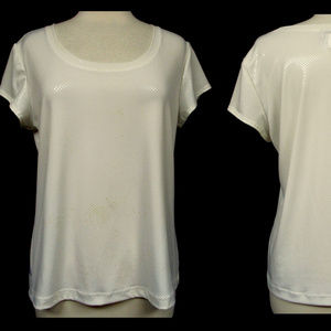 Chico's White Metallic Like Pullover Stretch Top 2